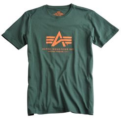 Alpha Industries Tričko  Basic T-Shirt petrolejové L