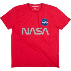 Alpha Industries Tričko  NASA Reflective T speed red XXL
