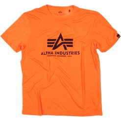 Alpha Industries Tričko  Basic T-Shirt neon orange XS
