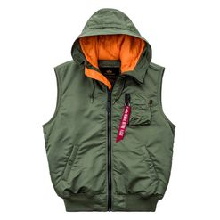 Alpha Industries Vesta  MA-1 Vest Hooded šalvějová L