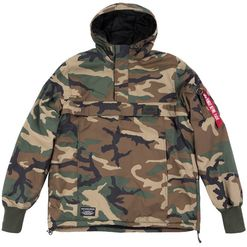 Alpha Industries Bunda  WP Anorak woodland camo 65 L