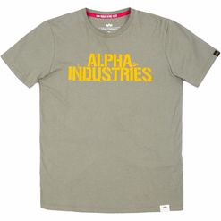 Alpha Industries Tričko  Blurred T olivové XL