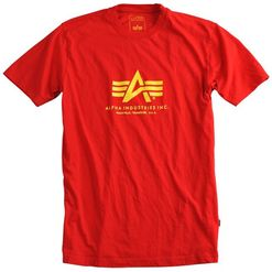 Alpha Industries Tričko  Basic T-Shirt speed red 3XL