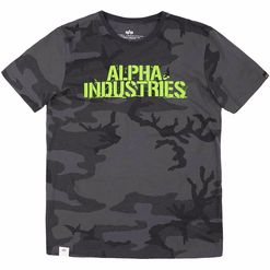 Alpha Industries Tričko  Blurred T blackcamo L