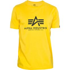 Alpha Industries Tričko  Basic T-Shirt empire yellow XS