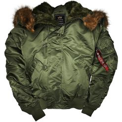 Alpha Industries Bunda  N2B šalvějová XL