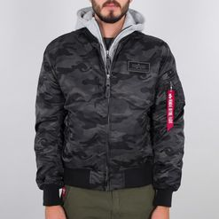 Alpha Industries Bunda  MA-1 D-Tec black camo M