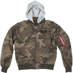 Alpha Industries Bunda  MA-1 TT Hood olive camo XL
