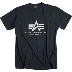 Alpha Industries Tričko  Basic T-Shirt černé XS