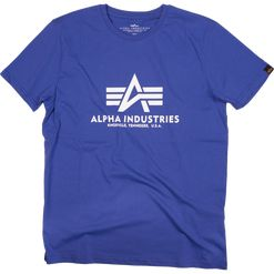 Alpha Industries Tričko  Basic T-Shirt nautical blue 4XL
