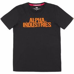 Alpha Industries Tričko  Blurred T černé XL