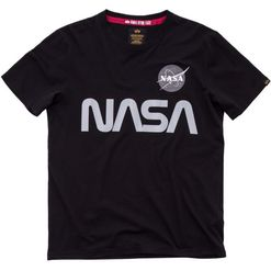 Alpha Industries Tričko  NASA Reflective T černé M