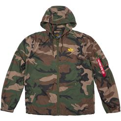 Alpha Industries Bunda  Windbreaker woodland camo 65 L