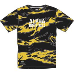 Alpha Industries Tričko  AI Tiger Camo T tiger yellow camo XXL
