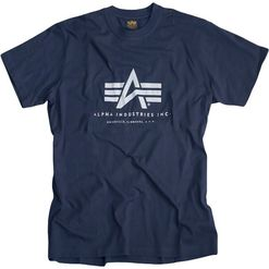 Alpha Industries Tričko  Basic T-Shirt navy L